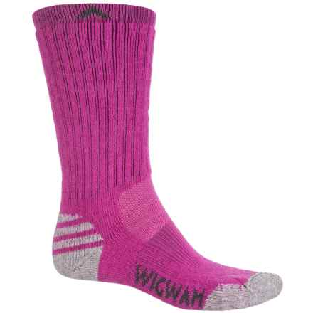 Wigwam Merino Lite Socks - Crew (For Women) in Hot Magenta - 2nds