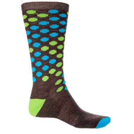 Wigwam Metro Dotz Socks - Merino Wool, Crew (For Men) in Taupe Brown Heather - Closeouts