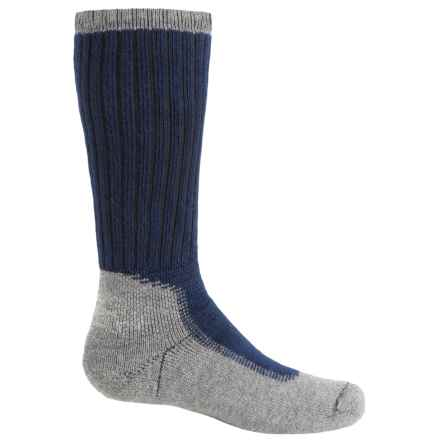 Wigwam Midweight Outdoor Pro Socks - Crew (For Big Kids) in Navy/Grey - 2nds
