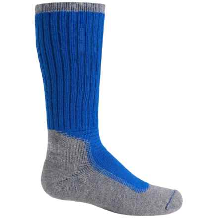Wigwam Midweight Outdoor Pro Socks - Crew (For Big Kids) in Royal/Grey - 2nds
