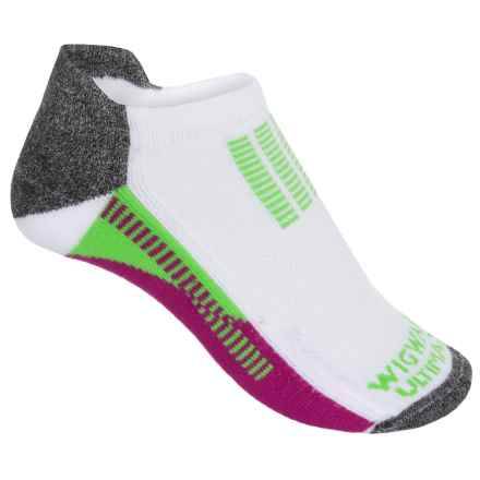 Wigwam Mile Mark Pro Running Socks - Below the Ankle (For Women) in Hot Magenta - 2nds