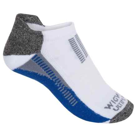 Wigwam Mile Mark Pro Running Socks - Below the Ankle (For Women) in White/Blue/Charcoal Heather/Grey - 2nds