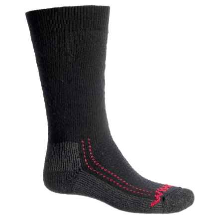 Wigwam Minus 40°C Silver Boot Socks - Merino Wool, Over the Calf (For Men and Women) in Black - 2nds