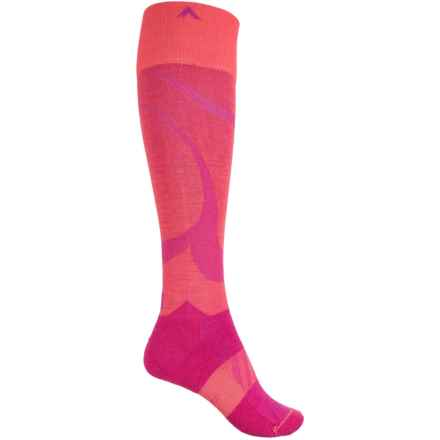 Wigwam Moarri Socks - Over the Calf (For Women) in Coral Ray - 2nds