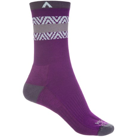 Wigwam Muir Trail Pro Hiking Socks - Crew (For Men and Women) in Swatara Imperial Purple