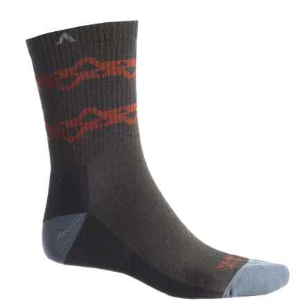 Wigwam Muir Trail Pro Hiking Socks - Crew (For Men and Women) in Tent Rock Black - 2nds