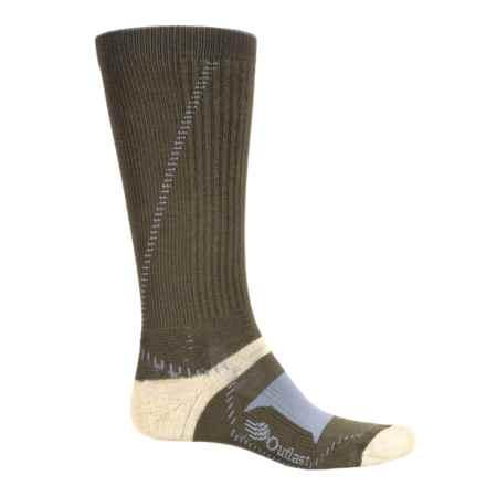 Wigwam Outlast® Hiker Socks - Merino Wool Blend, Mid Calf (For Men) in Moss/Karat Gold/Grey - 2nds