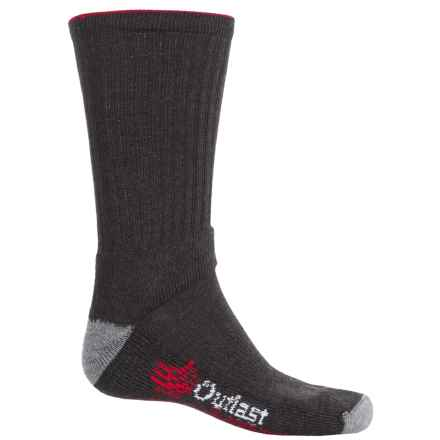 Wigwam Outlast® Weather Shield Hiking Socks - Merino Wool Blend, Crew (For Men) in Charcoal/Red - 2nds