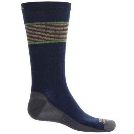Wigwam Pacific Crest Pro Socks - Merino Wool Blend, Crew (For Men) in Dark Blue/Grey/Golderrod/Lime - 2nds
