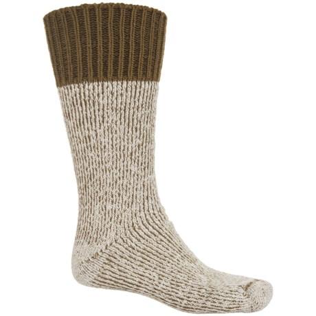 Wigwam Paul Bunyon Hiking Socks - Merino Wool, Crew (For Men) in Olive/Natural