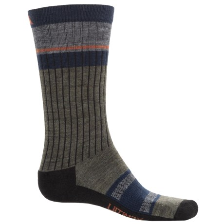 Wigwam Pikes Peak Pro Socks - Merino Wool Blend, Crew (For Women) in Olive Green Heather