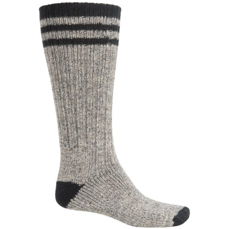 Wigwam Pine Lodge Socks - Over the Calf (For Men) in Natural/Black