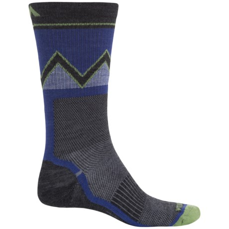 Wigwam Point Reyes Socks - Merino Wool Blend, Crew (For Men) in Grape Juice