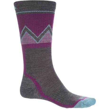 Wigwam Point Reyes Socks - Merino Wool Blend, Crew (For Men) in Violet/Grey