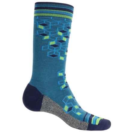 Wigwam Qubix Socks - Merino Wool Blend, Mid Calf (For Men) in Dark Denim - Closeouts