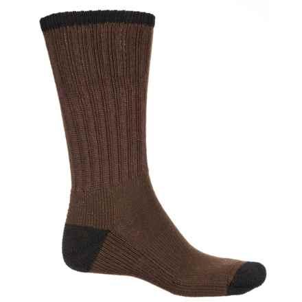Wigwam Range Socks - Crew (For Men) in Chocolate/Black - 2nds