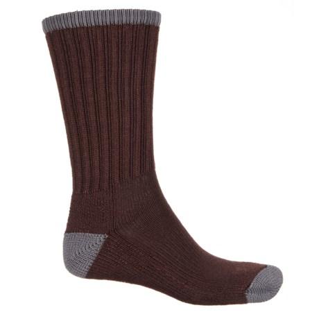 Wigwam Range Socks - Crew (For Men) in Rich Brown/Grey