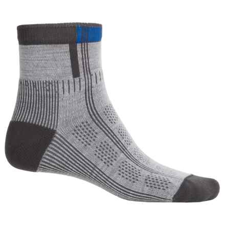 Wigwam Rebel Fusion Trekker II Socks - Quarter Crew (For Men) in Stone/Grey/Blue - 2nds