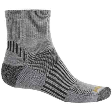 Wigwam Scout Socks - Merino Wool, Quarter Crew (For Men and Women) in Grey - Closeouts