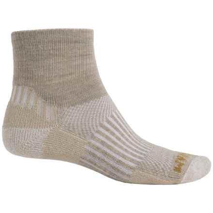 Wigwam Scout Socks - Merino Wool, Quarter Crew (For Men and Women) in Khaki - Closeouts