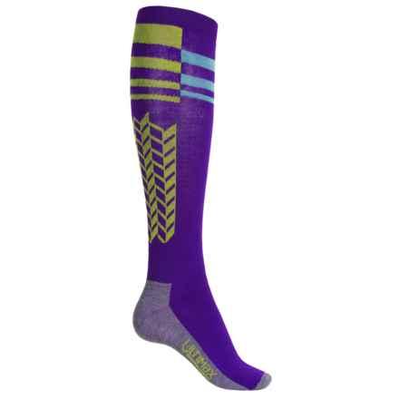 Wigwam Snow Arrow Pro Ski Socks - Over the Calf (For Women) in Purple - 2nds