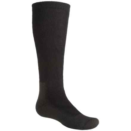 Wigwam Snow Chaser Pro Ski Socks - Over the Calf (For Little and Big Kids) in Black - Closeouts