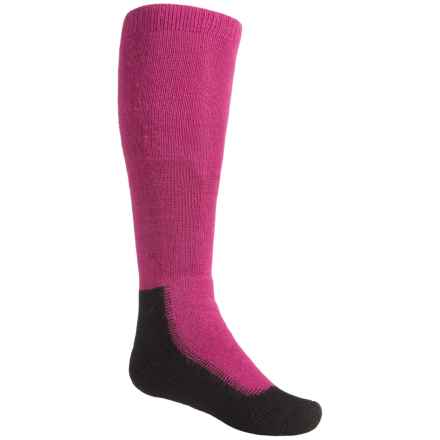Wigwam Snow Chaser Pro Ski Socks - Over the Calf (For Little and Big Kids) in Raspberry - Closeouts