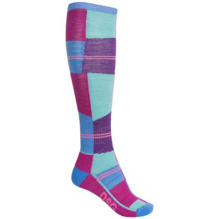 Wigwam Snow Cube Pro Ski Socks - Over the Calf (For Women) in Blue/Pink/Purple - 2nds