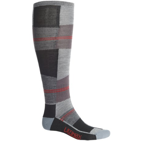 Wigwam Snow Cube Pro Ski Socks - Over the Calf (For Women) in Grey/Black/Charcoal