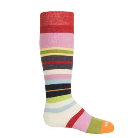 Wigwam Snow Force Socks - Merino Wool, Over the Calf (For Little and Big Kids) in Poppy - 2nds