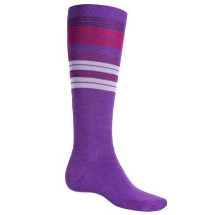 Wigwam Snow Halo Ski Socks - Merino Wool, Over the Calf (For Men) in Ultra Violet - Closeouts