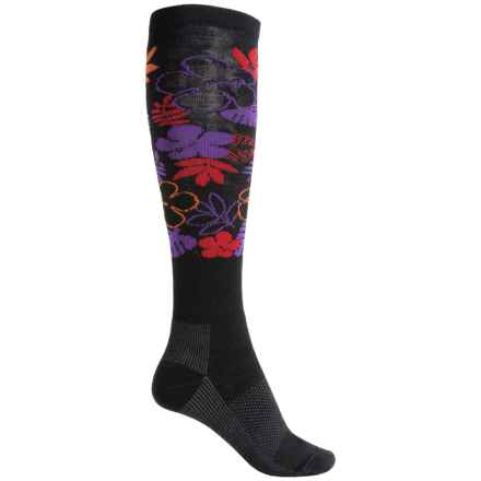 Wigwam Snow Pareo Fusion Ski Socks - Over the Calf (For Men and Women) in Black - Closeouts