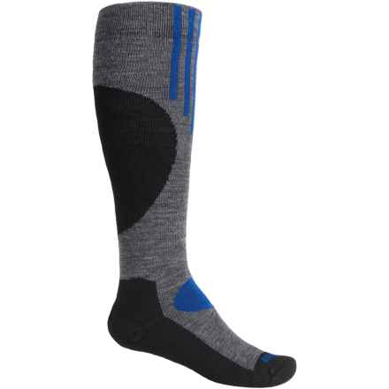 Wigwam Snow Pop Ski Socks - Merino Wool, Over the Calf (For Youth) in Charcoal - Closeouts