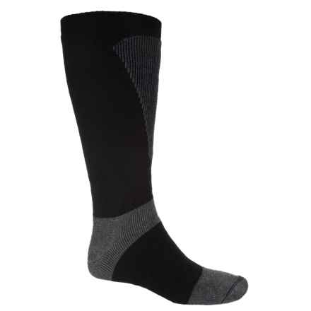 Wigwam Snow Sirocco Ski Socks - Over the Calf (For Women) in Black/Grey - 2nds