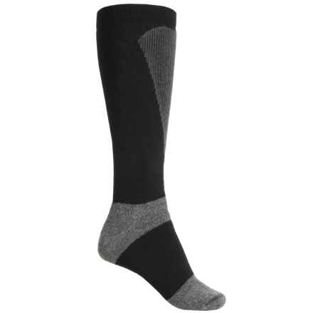 Wigwam Snow Sirocco Socks - Over the Calf (For Men and Women) in Black - 2nds