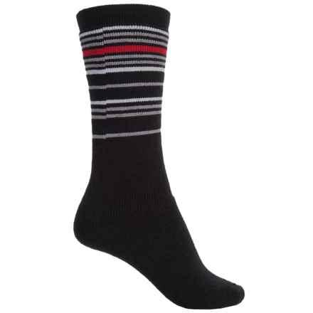 Wigwam Snow Swirl Socks - Merino Wool, Over the Calf (For Little and Big Kids) in Black - 2nds