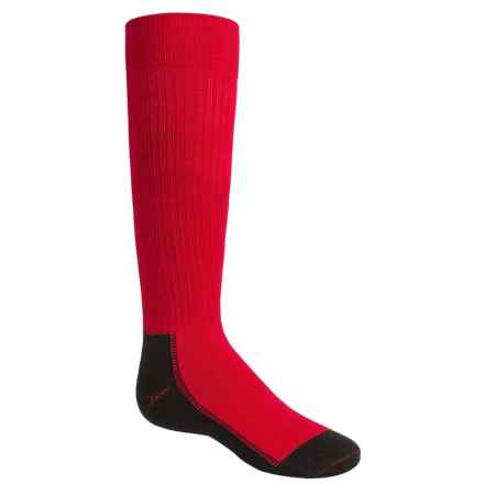Wigwam Snow Whisper Pro Ski Socks - Over the Calf (For Little and Big Kids) in Crimson - Closeouts