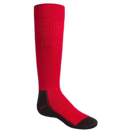 Wigwam Snow Whisper Pro Ski Socks - Over the Calf (For Little and Big Kids) in Crimson