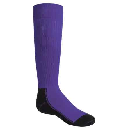 Wigwam Snow Whisper Pro Ski Socks - Over the Calf (For Little and Big Kids) in Twlight Purple - Closeouts