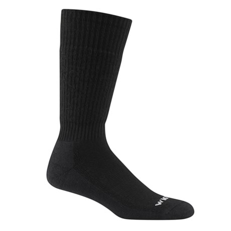 Wigwam Tactical Wool Boot Socks - Midweight, Over the Calf (For Men) in Black