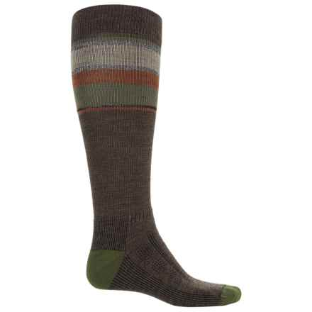 Wigwam Tall Trekker Fusion Socks - Compression, Over the Calf (For Men) in Taupe/Brown Heather - 2nds