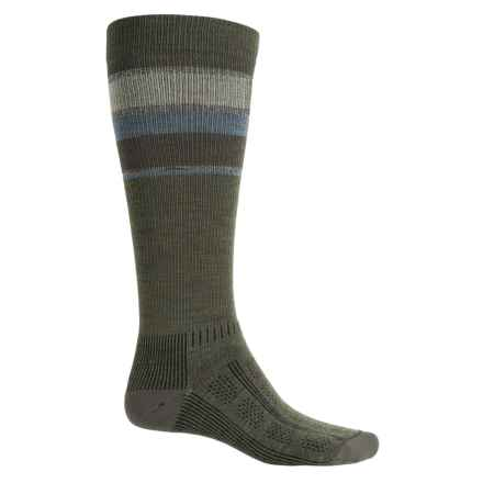 Wigwam Tall Trekker Fusion Socks - Merino Wool, Over the Calf (For Men) in Olive Green Heather - Closeouts