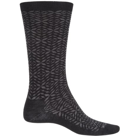 Wigwam Tik Tak Socks - Merino Wool, Crew (For Men and Women) in Black