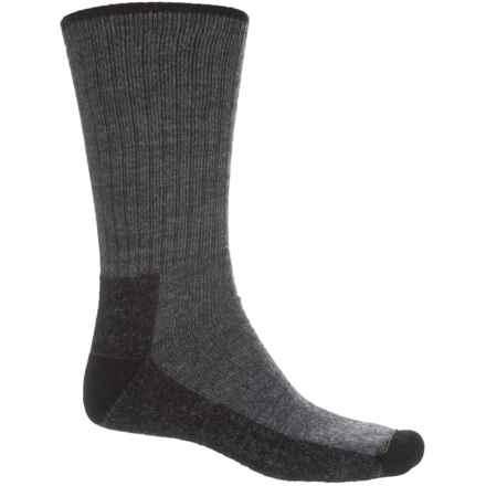 Wigwam Trail Mix Fusion Socks - Merino Wool, Crew (For Men) in Dark Grey Heather/Black - 2nds