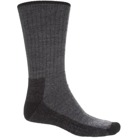 Wigwam Trail Mix Fusion Socks - Merino Wool, Crew (For Men) in Dark Grey Heather/Black