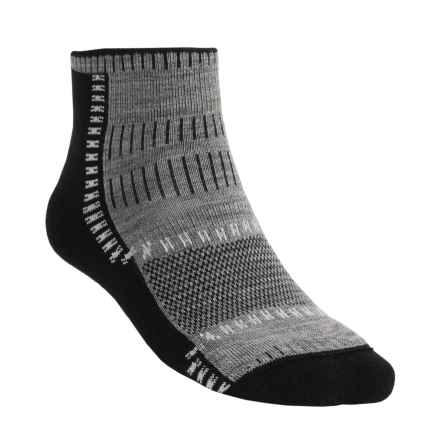 Wigwam Trail Trax Pro Socks - Merino Wool, Quarter-Crew (For Men and Women) in Black - 2nds