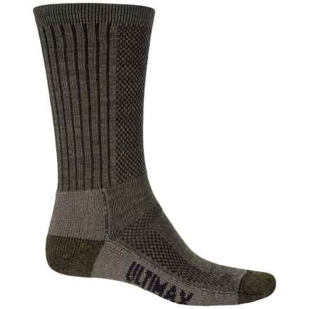 Wigwam Trailblaze Pro Hiking Socks - Crew (For Men and Women) in Olive Green Heather - Closeouts