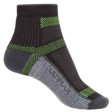 Wigwam Ultra Cool-Lite Hiking Socks - Quarter Crew (For Men and Women) in Black - 2nds
