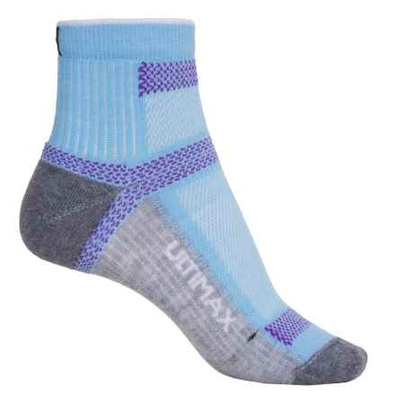 Wigwam Ultra Cool-Lite Hiking Socks - Quarter Crew (For Men and Women) in Notting Blue - 2nds