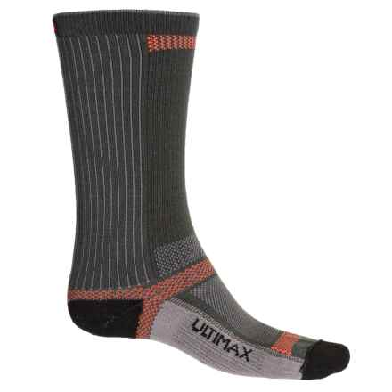 Wigwam Ultra CoolLite® Socks - Crew (For Men and Women) in Grey/Black - 2nds